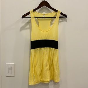 Cute yellow baby doll crossback top